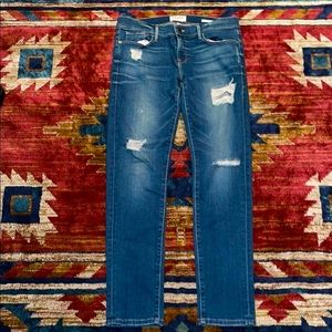 Frame Denim Distressed Blue Jay Way Le Garçon Jean